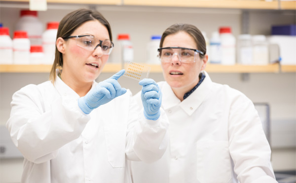 Two women in the lab